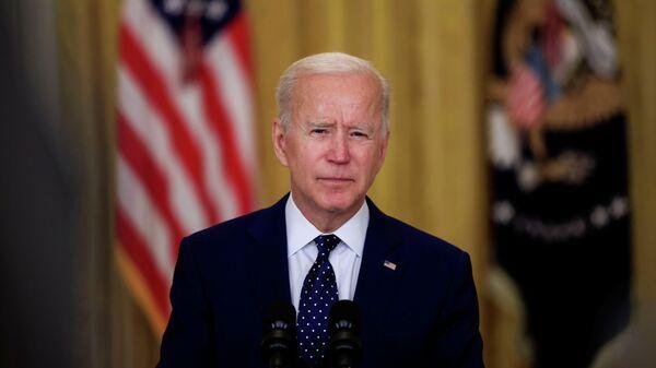 Президент США Джо Байден во время выступления с речью, посвященной России, в Вашингтоне