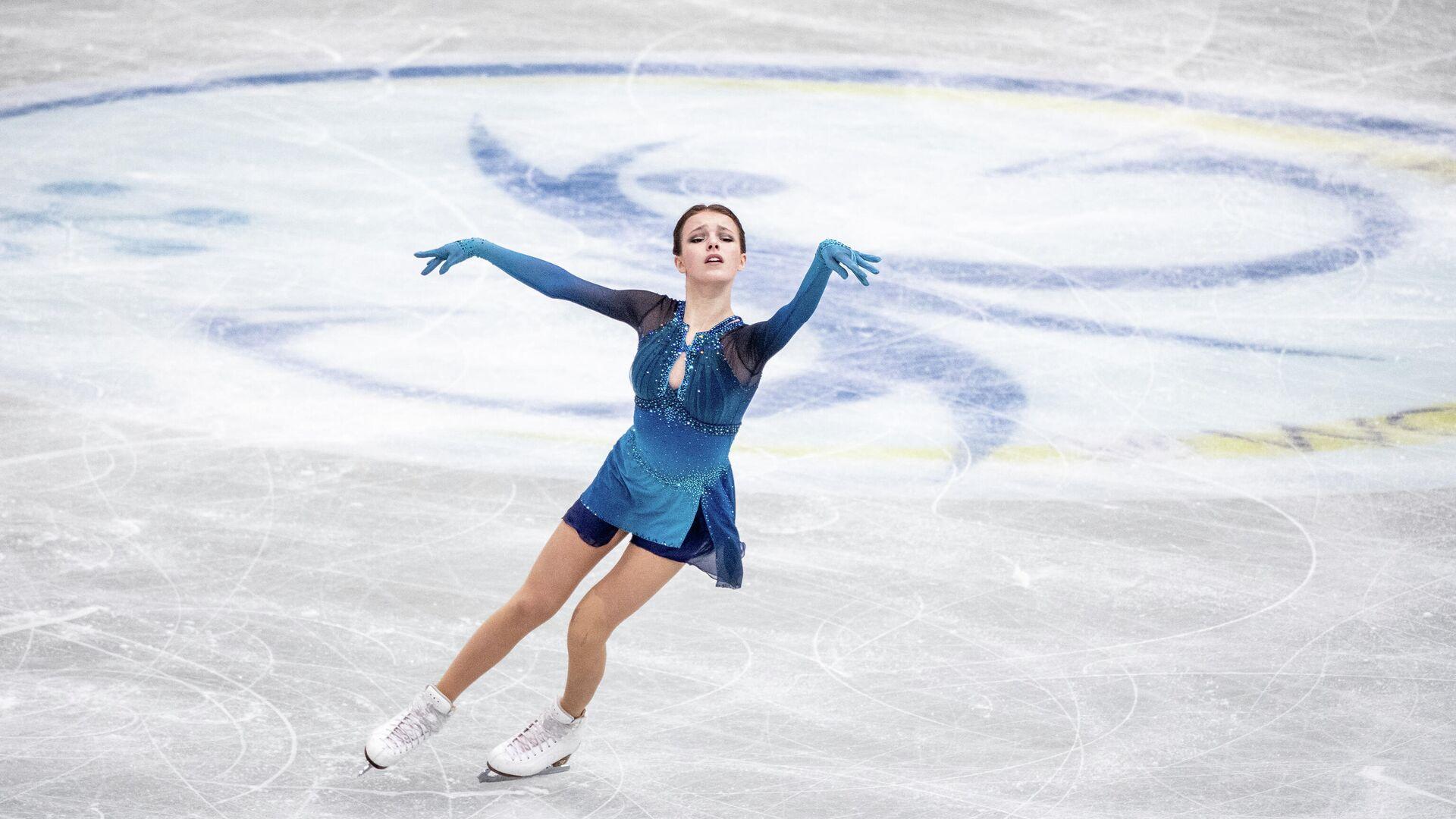 Анна Щербакова выступает на чемпионате мира по фигурному катанию в Осаке, Япония - РИА Новости, 1920, 17.04.2021