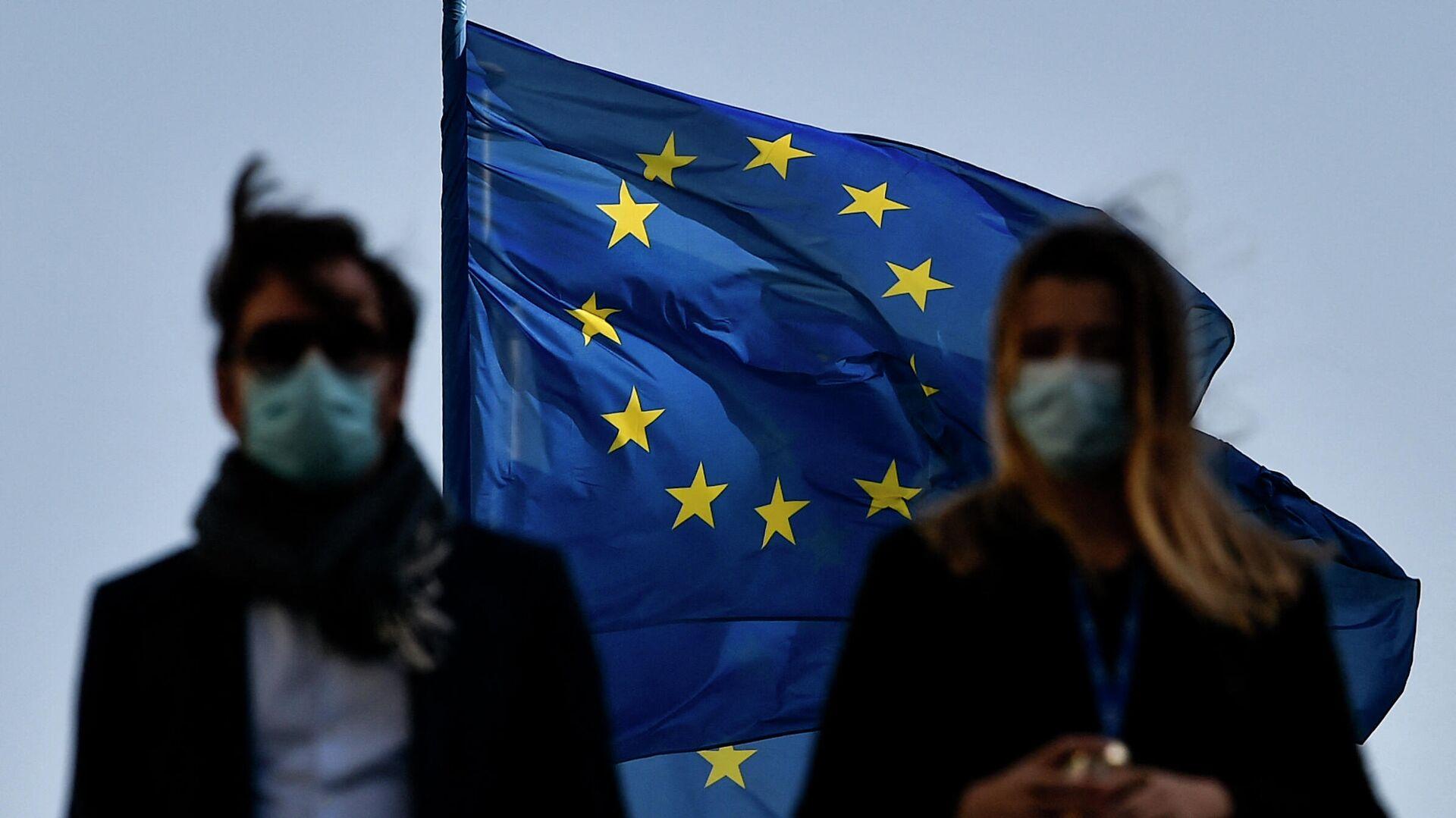 Флаг ЕС в Брюсселе - РИА Новости, 1920, 23.04.2021
