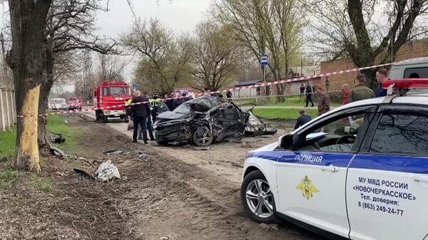 Автомобиль, которым управлял подросток, на месте аварии