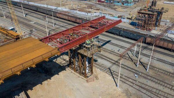 Строительство автодорожного путепровода через Транссиб в городе Свободный Амурской области вместо обрушившегося 9 октября 2018 года