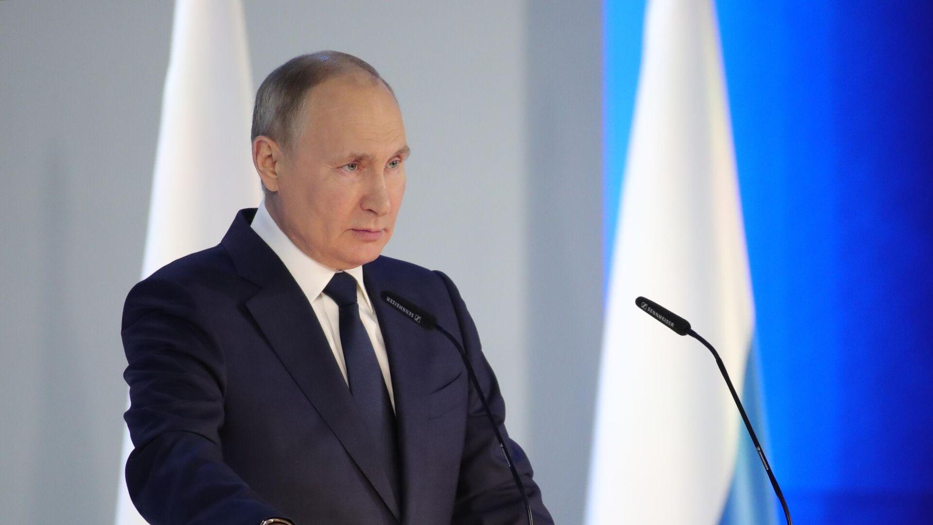Путин назвал национальные интересы основой для консолидации парламента