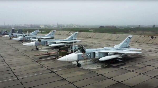 Военные учения в Крыму. Кадр видео