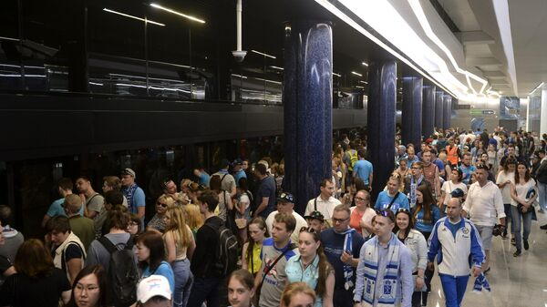 Открытие станции метро «Новокрестовская» в Санкт-Петербурге