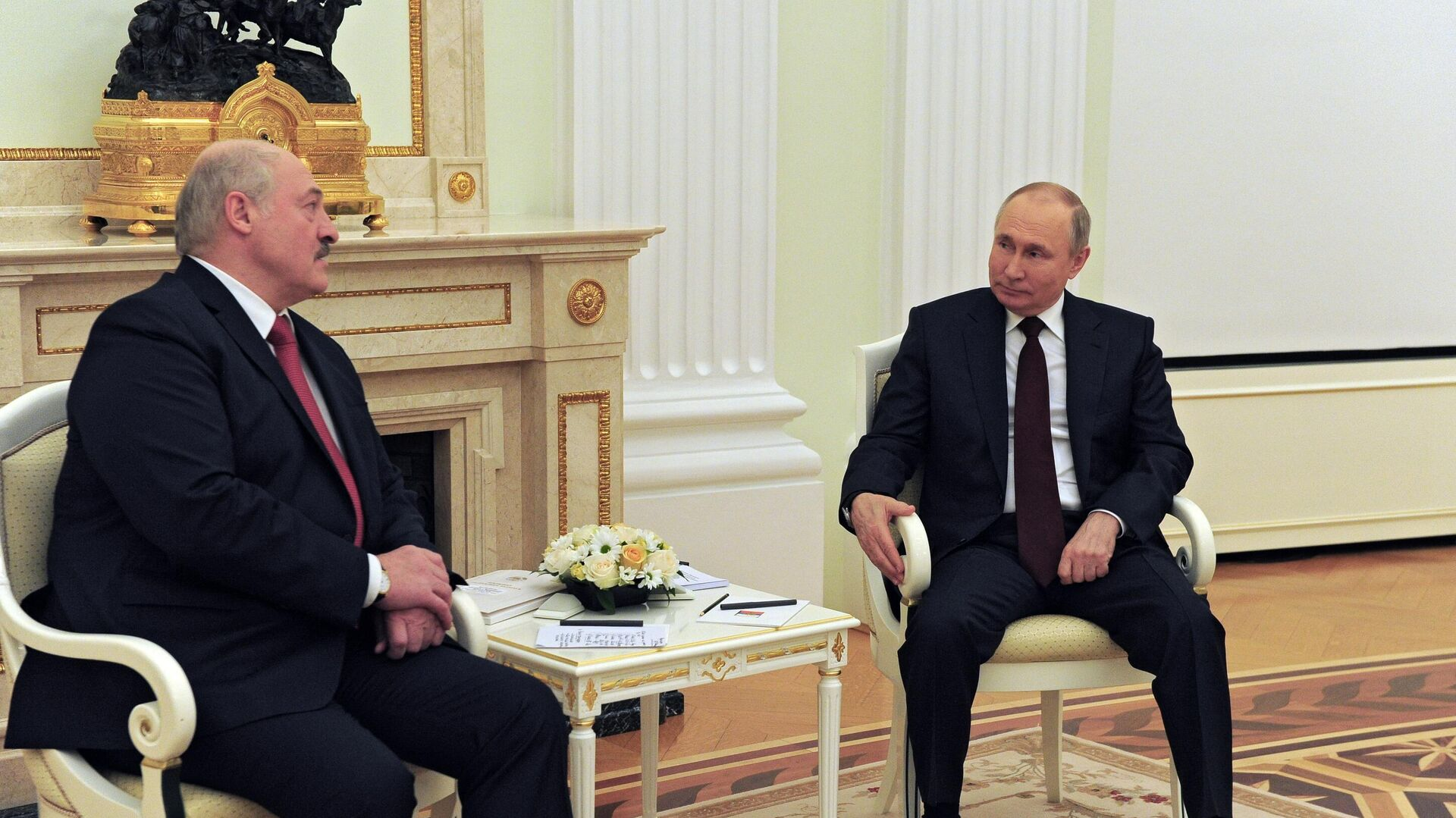 Президент РФ Владимир Путин и президент Белоруссии Александр Лукашенко во время встречи - РИА Новости, 1920, 26.05.2021