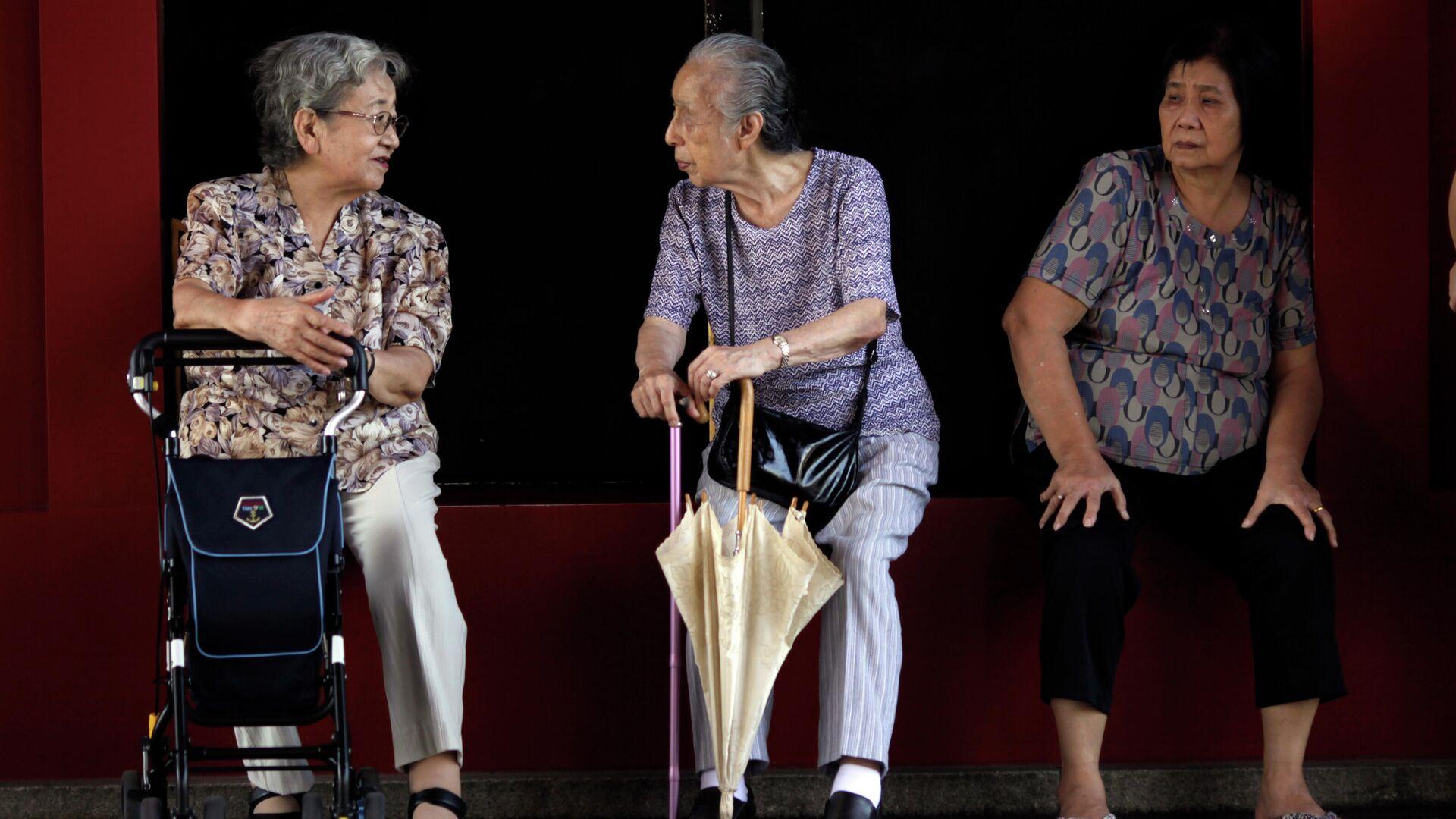 Пожилые люди на улице Токио, Япония - РИА Новости, 1920, 20.09.2021