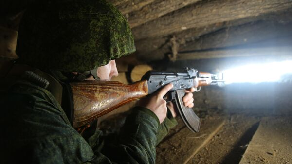 Боец Народной милиции ДНР на линии соприкосновения