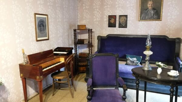 Комната во флигеле в усадьбе Чайковского в Клину