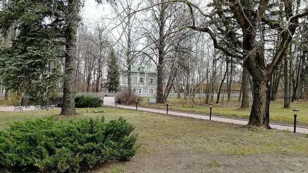Парк в усадьбе Чайковского в Клину