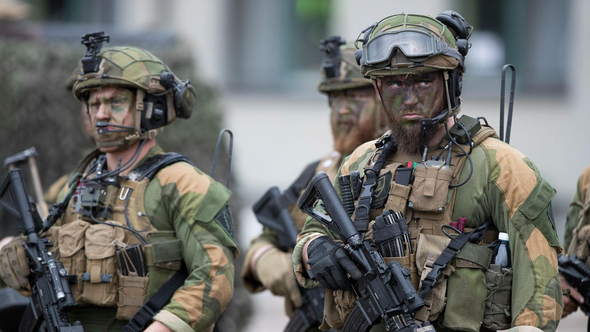 Норвежские солдаты усиленного передового присутствия НАТО - РИА Новости, 1920, 09.05.2021