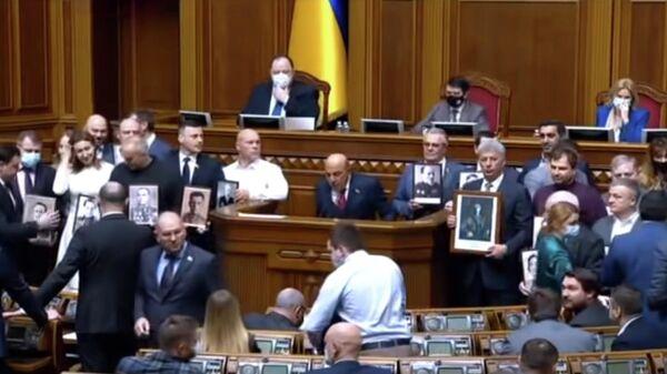 Заседание Верховной Рады Украины, 29.04.2021. Кадр из видео