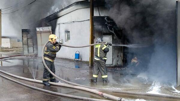 Пожара в здании цеха по производству переносных холодильников в городском округе Коломна Московской области