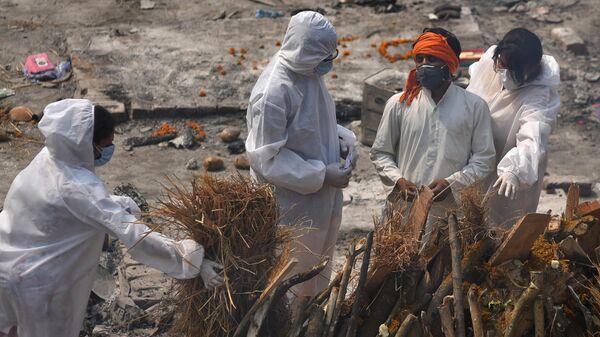 Работа крематория в Дели