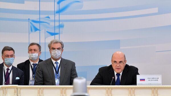 Председатель правительства РФ Михаил Мишустин принимает участие в заседании Евразийского межправительственного совета стран ЕАЭС в расширенном составе в Казани