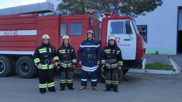 При пожаре в городе Котельниково огнеборцы спасли 4 детей