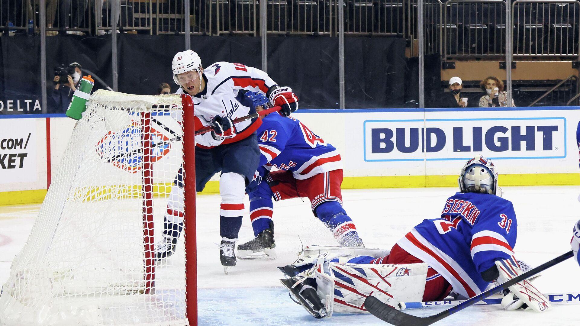 Игровой момент матча НХЛ  Нью-Йорк Рейнджерс - Вашингтон Кэпиталз  - РИА Новости, 1920, 04.05.2021