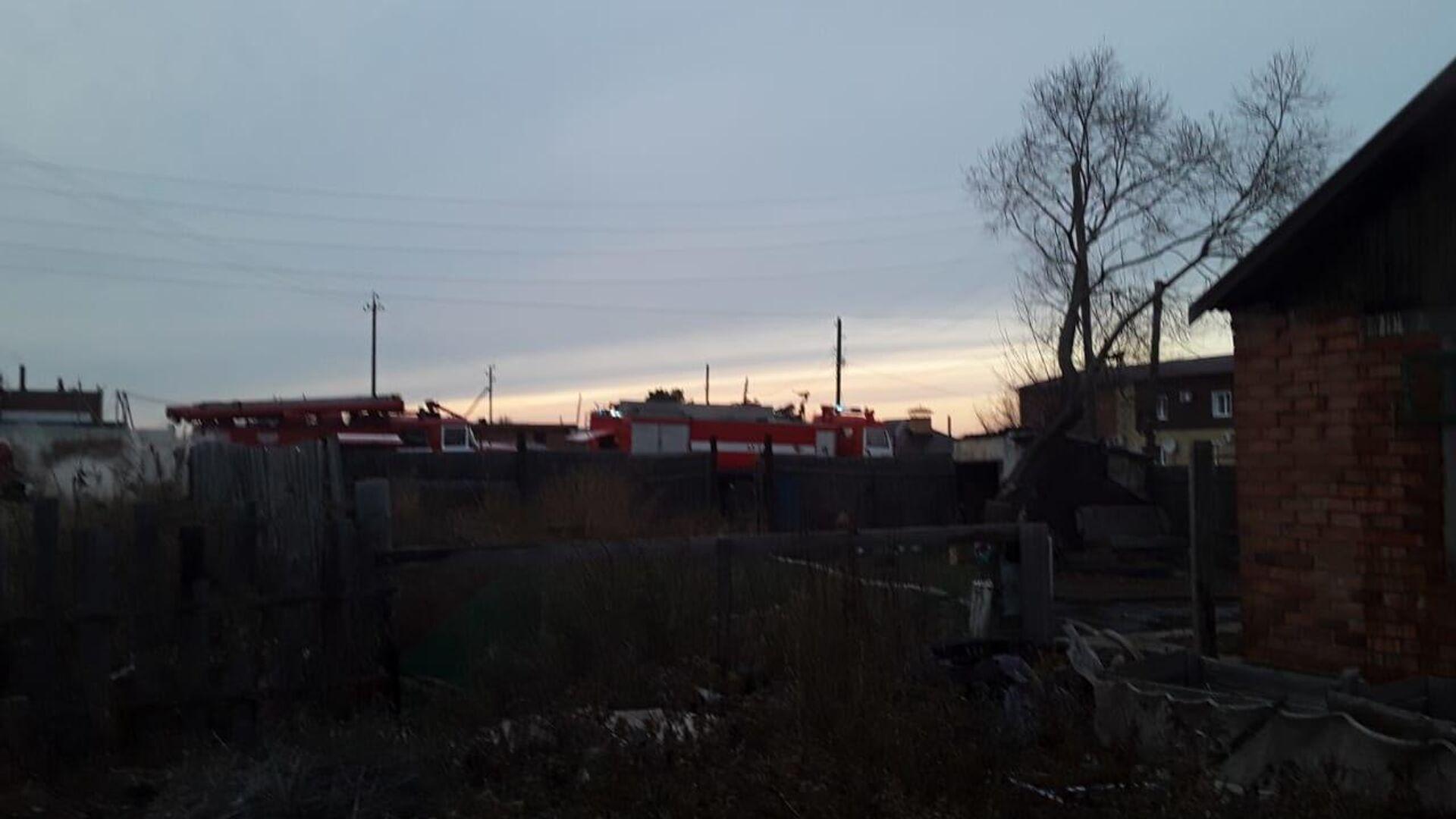 В Омской области ликвидировали пожар, спаливший дотла полдеревни