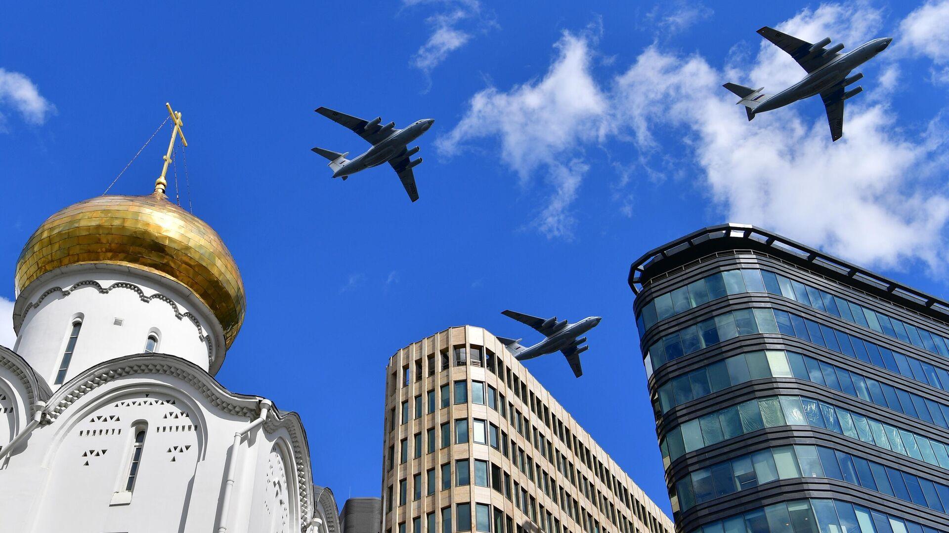 Генеральная репетиция воздушной части парада Победы в Москве - РИА Новости, 1920, 16.05.2021