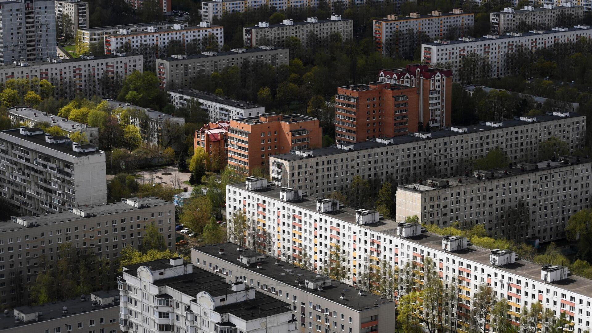 Жилые дома в одном из районов Москвы - РИА Новости, 1920, 02.07.2021