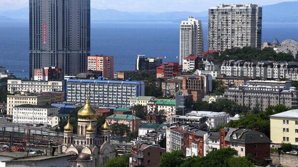 Жилые дома в центральной части города Владивостока