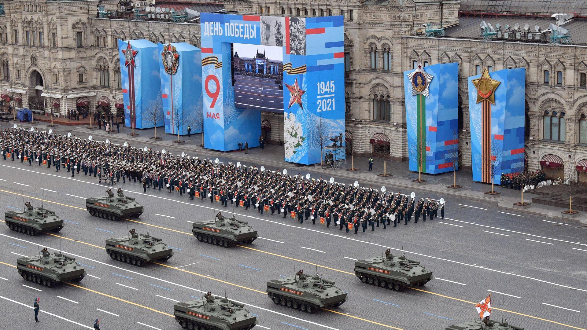 Боевые машины пехоты БМП-3 на военном параде в честь 76-й годовщины Победы в Великой Отечественной войне в Москве - РИА Новости, 1920, 11.05.2021