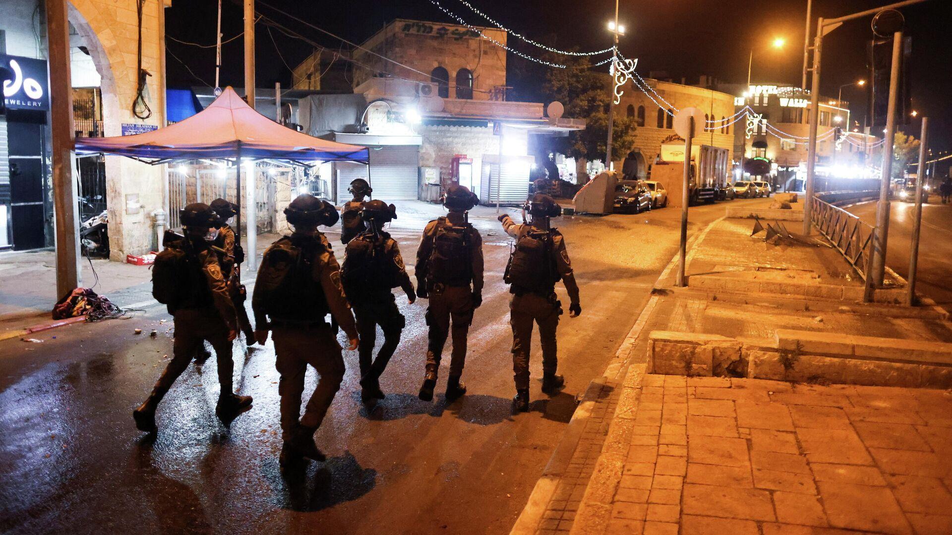 Сотрудники правоохранительных органов Израиля в Иерусалиме - РИА Новости, 1920, 13.05.2021