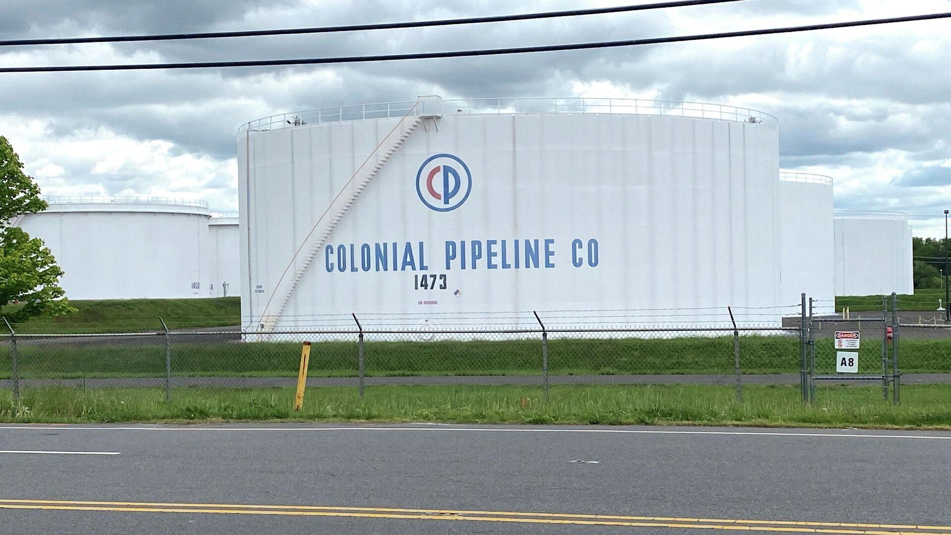 Резервуары для хранения нефтепродкутов в резервуарном парке Linden Junction компании Colonial Pipeline в Вудбридже, штат Нью-Джерси - РИА Новости, 1920, 12.05.2021