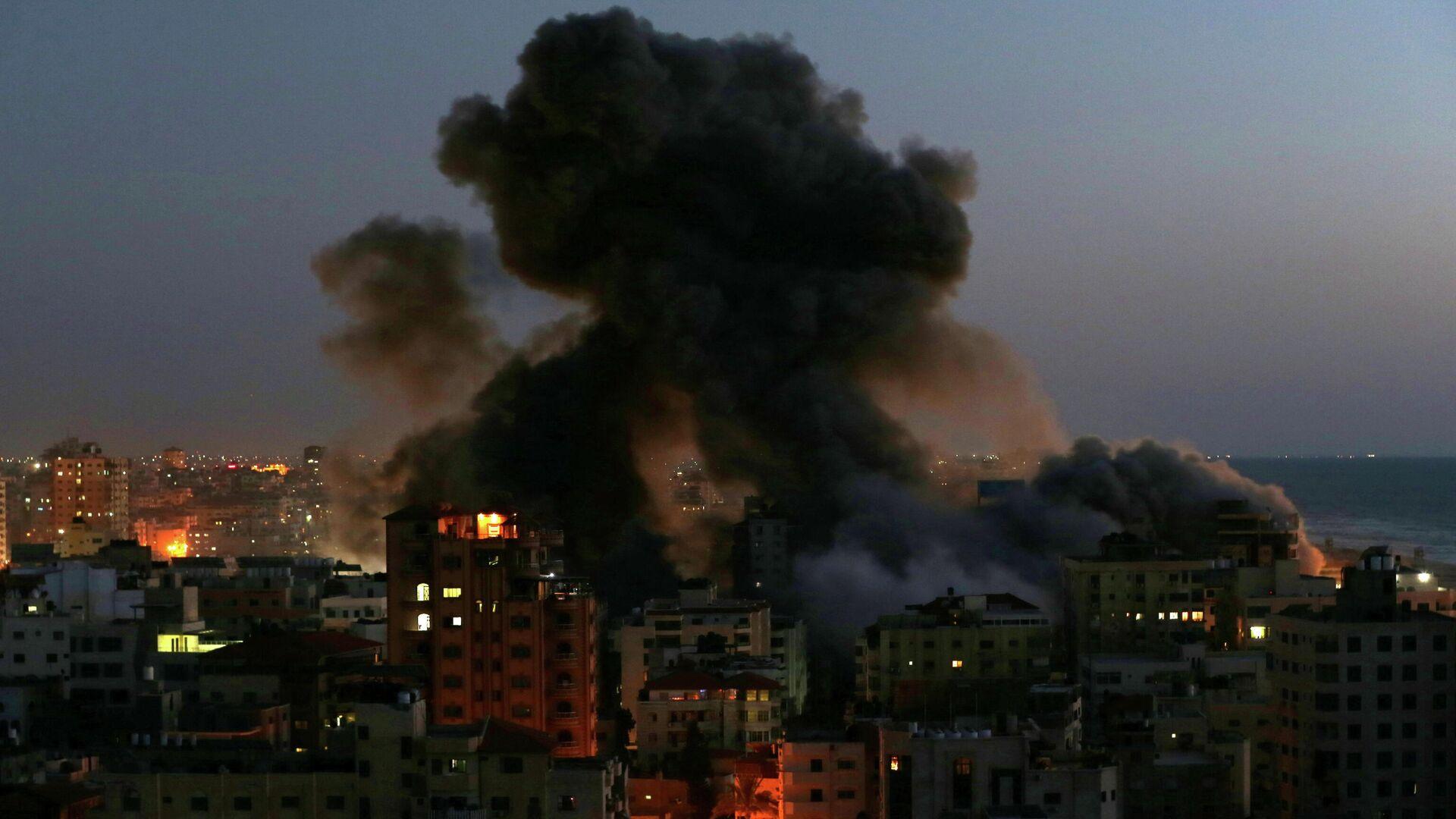 Последствия израильского авиаудара по Газе - РИА Новости, 1920, 14.05.2021