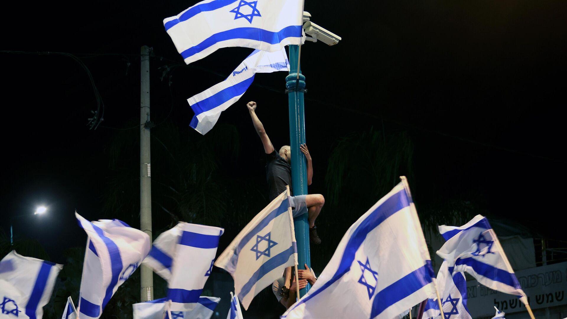 Участники митинга в Тель-Авиве - РИА Новости, 1920, 14.09.2021