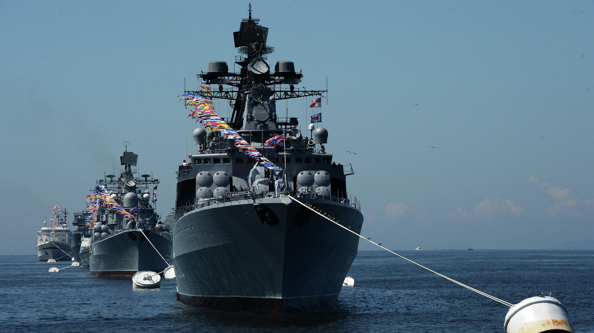 Генеральная репетиция военно-морского парада ко дню ВМФ во Владивостоке - РИА Новости, 1920, 21.05.2021
