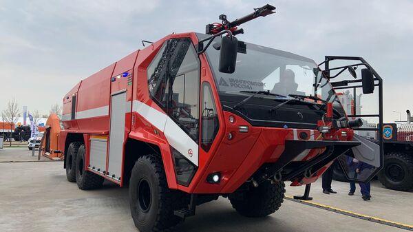 Разработан новый автомобиль для тушения пожаров в аэропортах