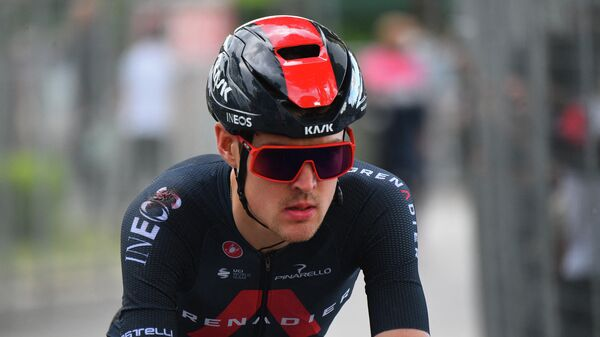 Российский велогонщик команды INEOS Grenadiers Павел Сиваков