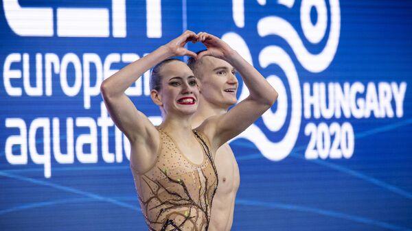 Синхронное плавание. Чемпионат Европы. Смешанный дуэт. Произвольная программа