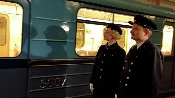 Юбилейный парад поездов на кольцевой линии московского метрополитена