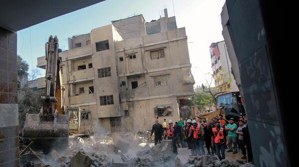 Последствия обстрелов сектора Газа