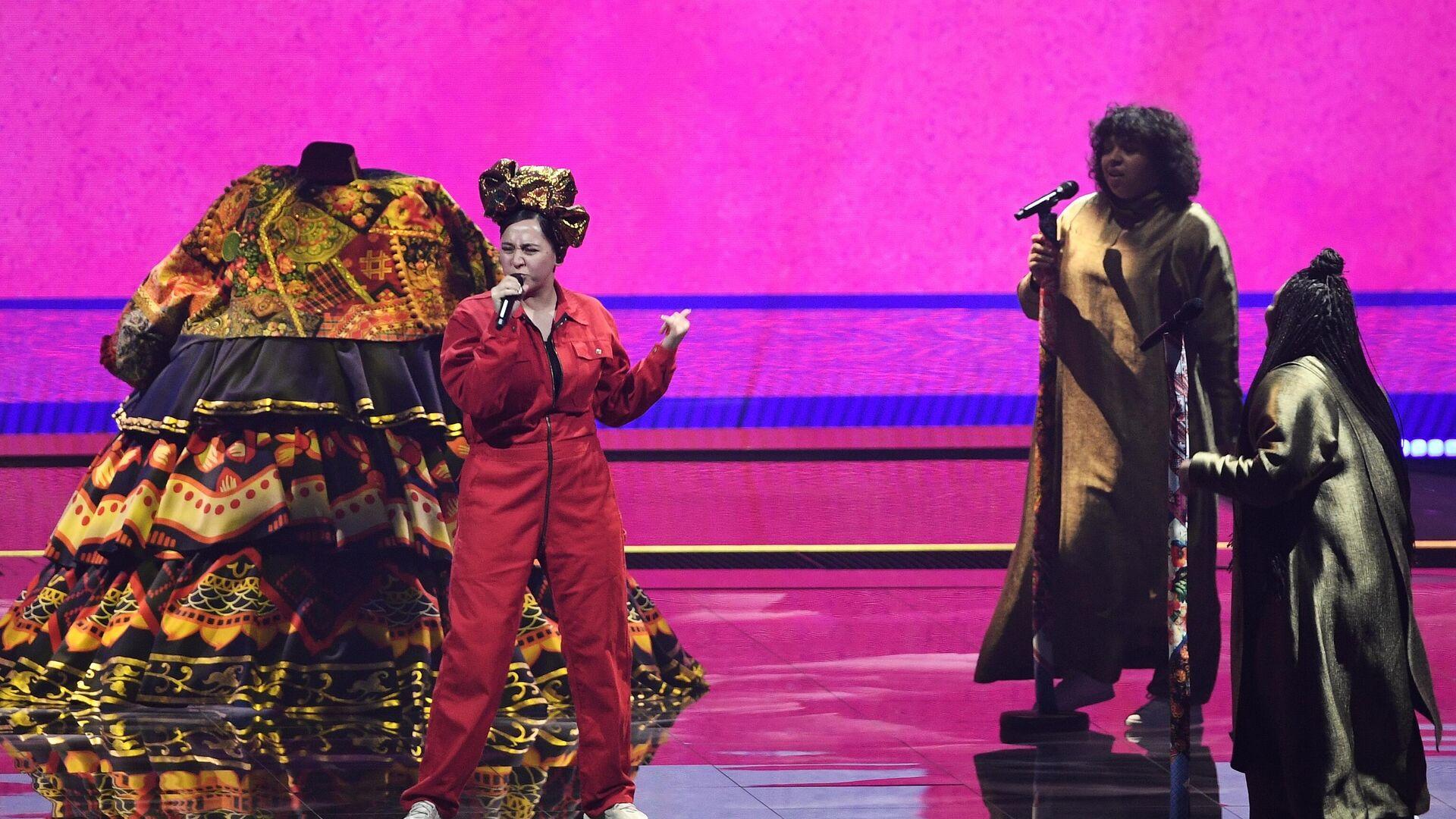 Певица Манижа выступает на репетиции первого полуфинала конкурса песни Евровидение-2021 в Роттердаме - РИА Новости, 1920, 21.05.2021