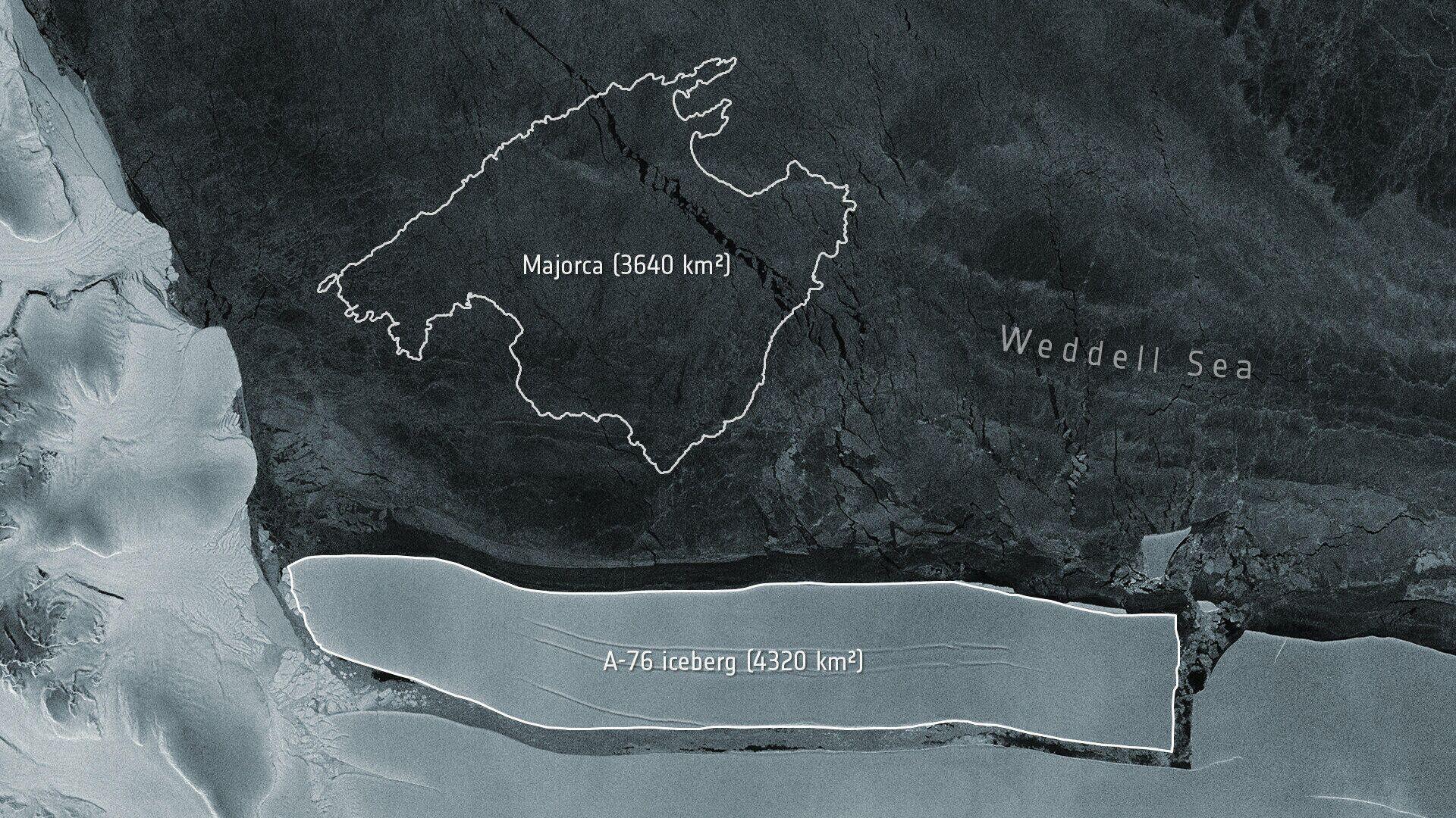 Появилось видео, как от Антарктиды откололся крупнейший в мире айсберг