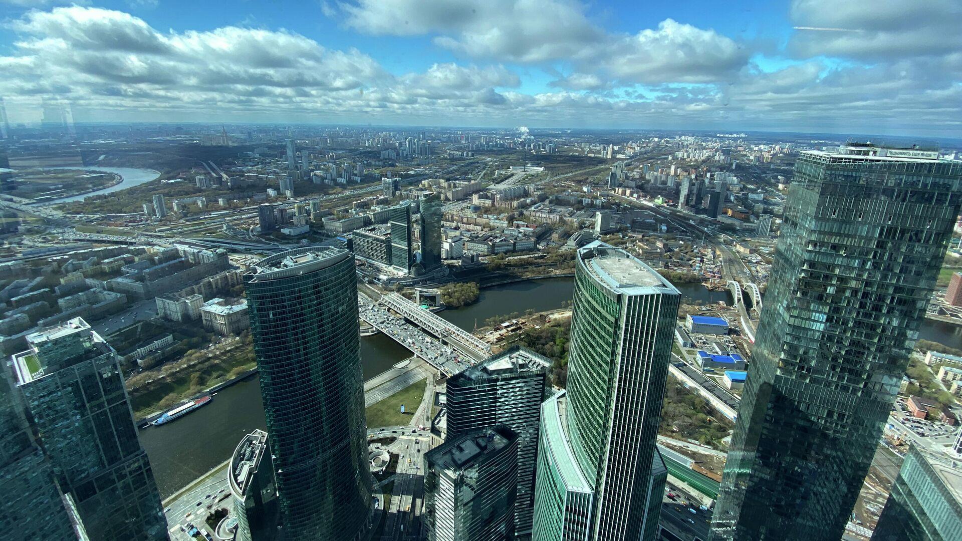 Вид с самой высокой площадки комплекса Башня Федерация - РИА Новости, 1920, 05.07.2021