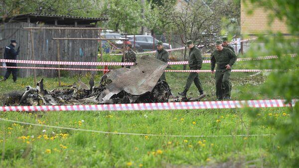 Место крушения белорусского Як-130 под Барановичами