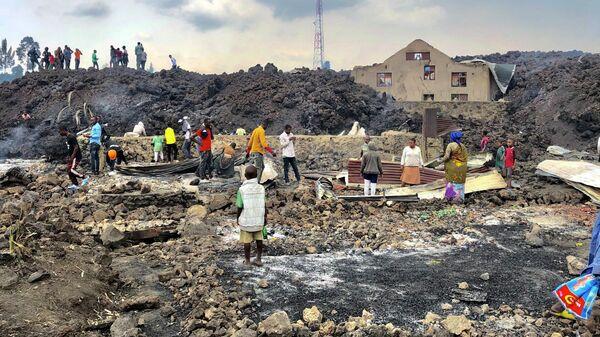 Последствия извержения вулкана Ньирагонго в Демократической республике Конго