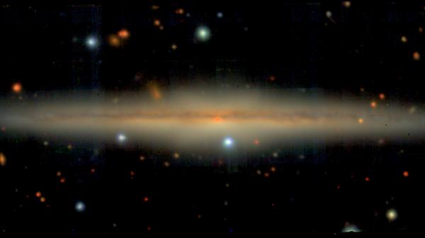 Изображение спиральной галактики UGC 10738, полученное с помощью телескопа VLT ESO в Чили