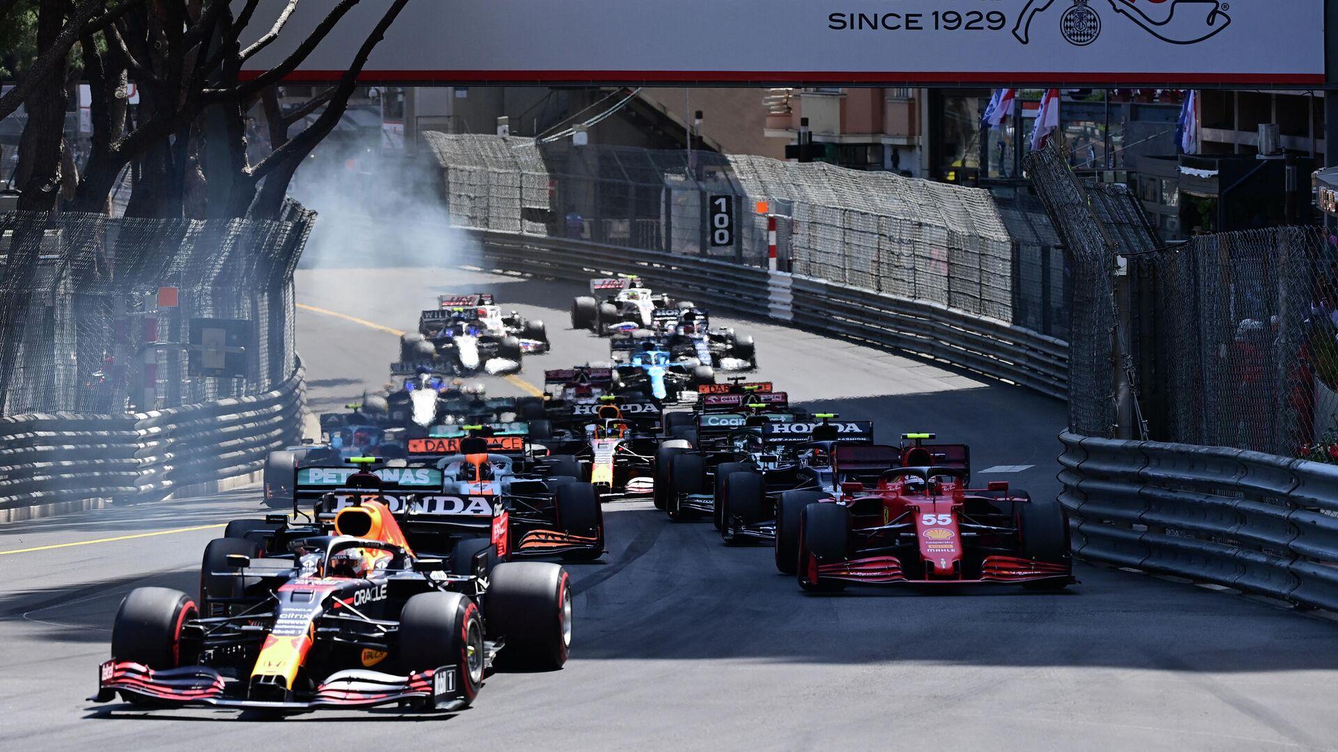 Старт гонки Гран-при Монако Формулы-1 - РИА Новости, 1920, 24.05.2021