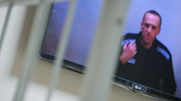 Алексей Навальный по видеосвязи участвует в заседании Петушинского районного суда Владимирской области