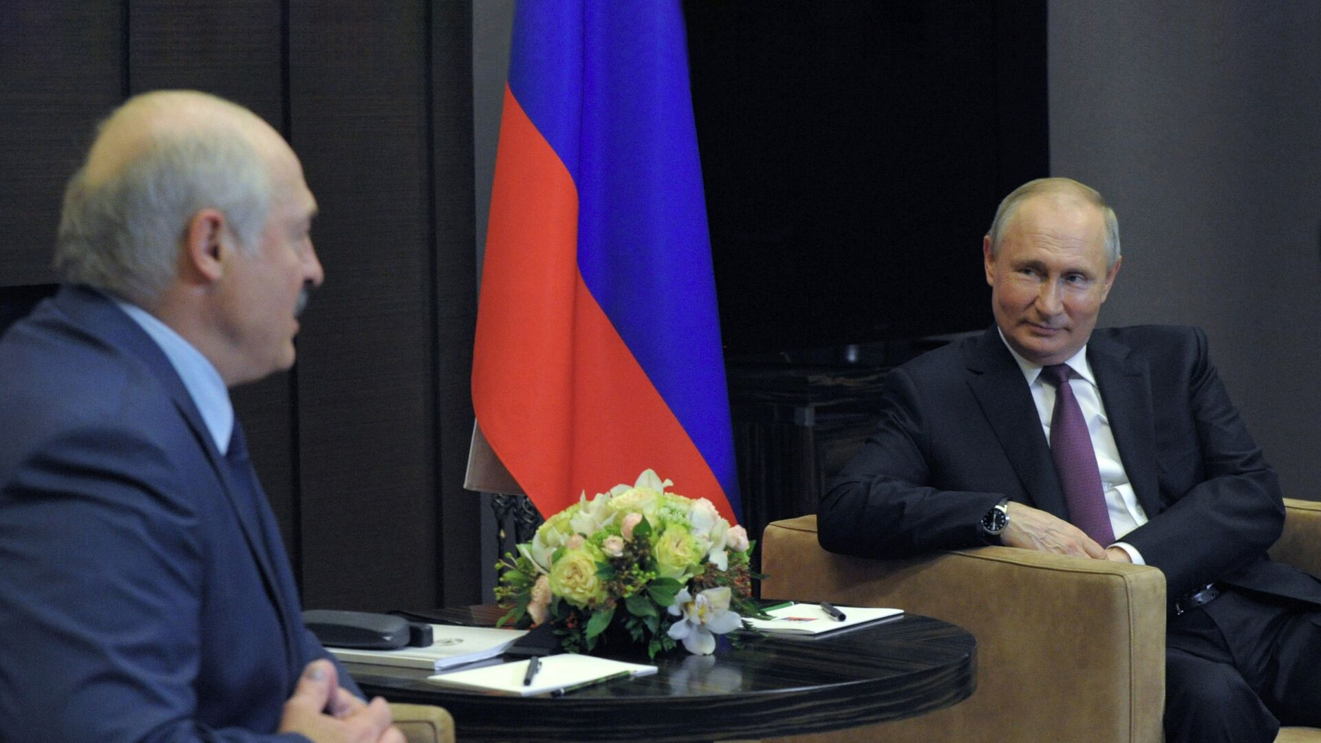 Президент РФ Владимир Путин и президент Белоруссии Александр Лукашенко во время встречи - РИА Новости, 1920, 13.07.2021
