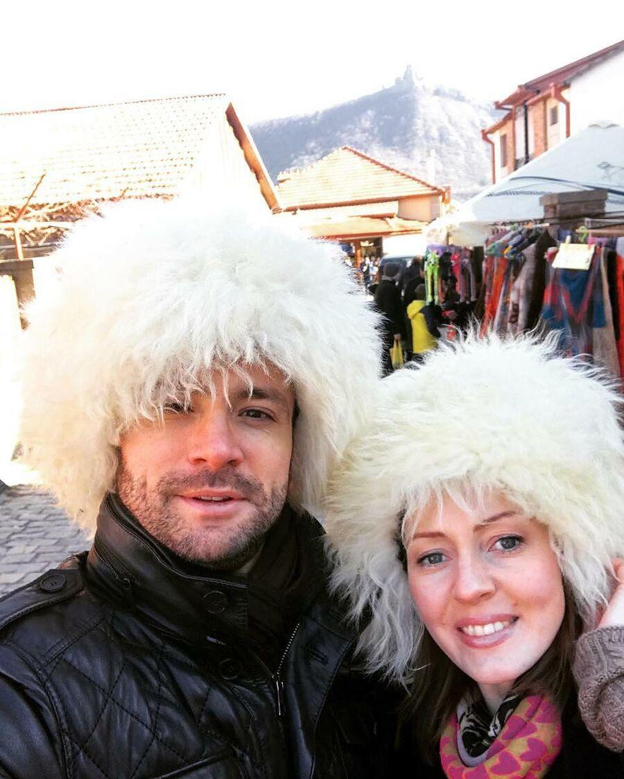 Антон Хабаров с женой. Мцхета