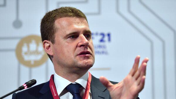 Министр РФ по развитию Дальнего Востока и Арктики Алексей Чекунков на пленарной сессии Дальний Восток: ресурсный фронтир или двигатель роста?