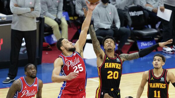 Игровой момент матча НБА Атланта Хокс - Филадельфия
