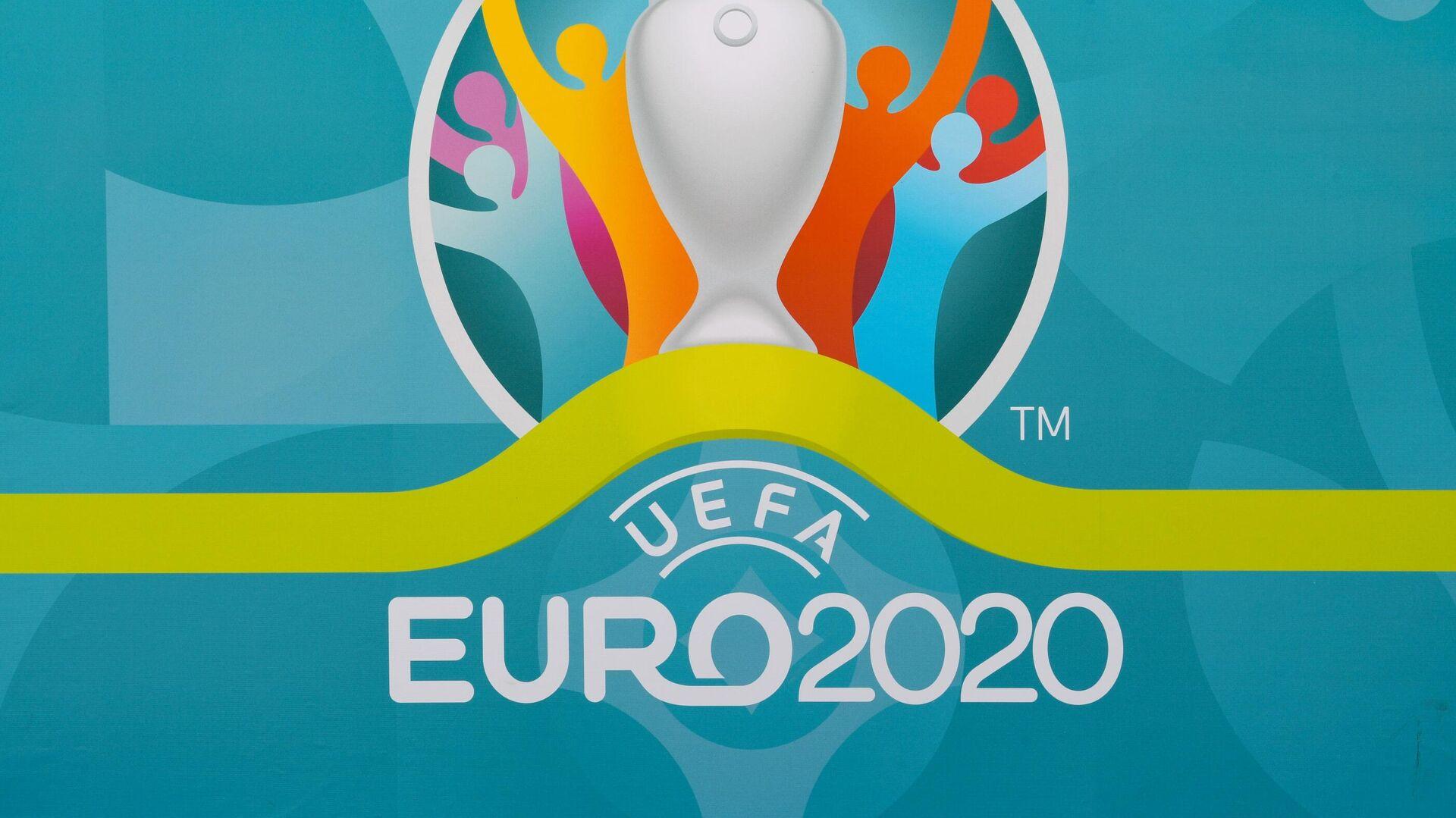 Логотип UEFA EURO 2020 в футбольной деревне фестиваля в Санкт-Петербурге - РИА Новости, 1920, 11.06.2021