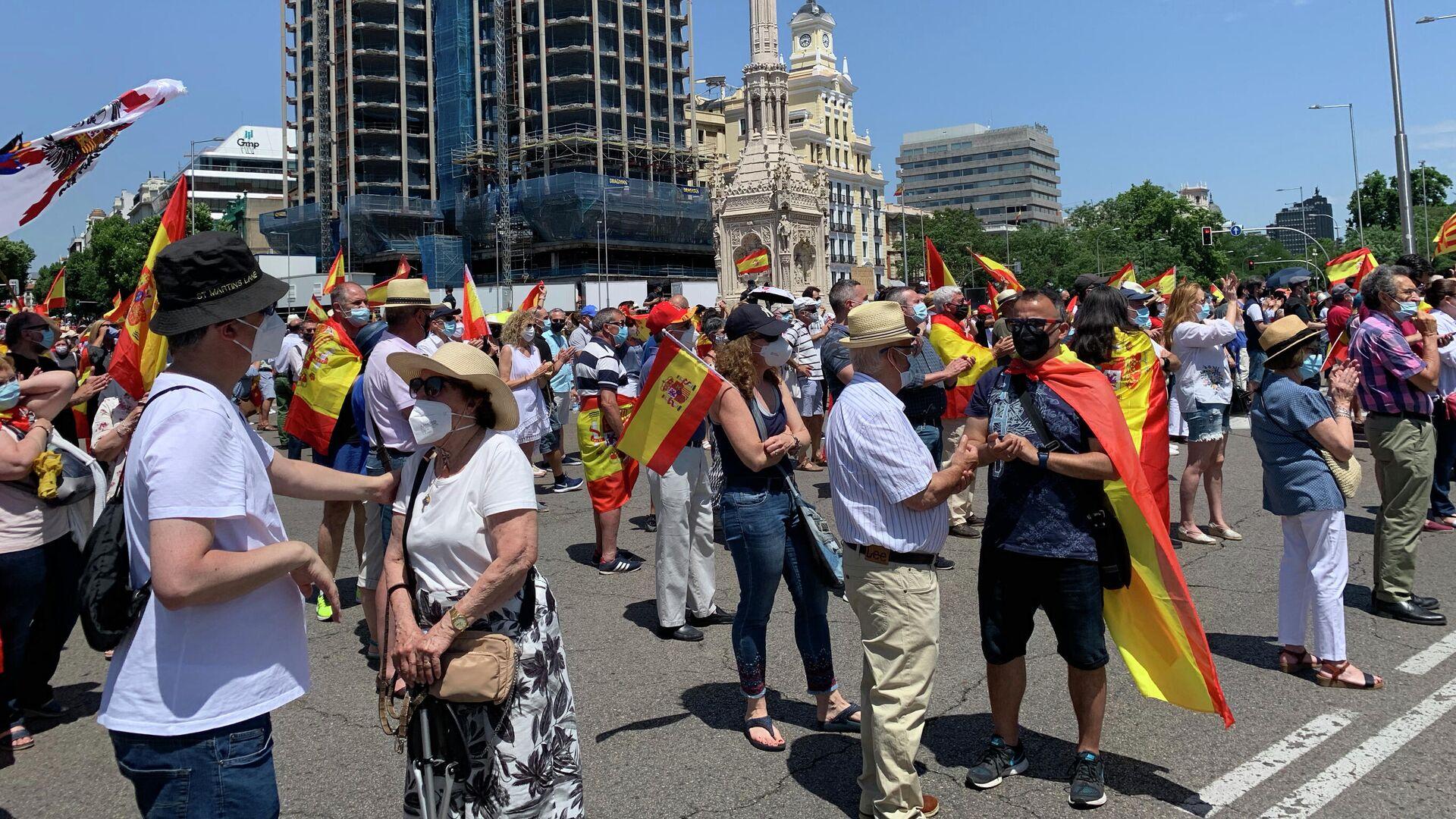 Акция против помилования каталонских политиков в Мадриде - РИА Новости, 1920, 13.06.2021