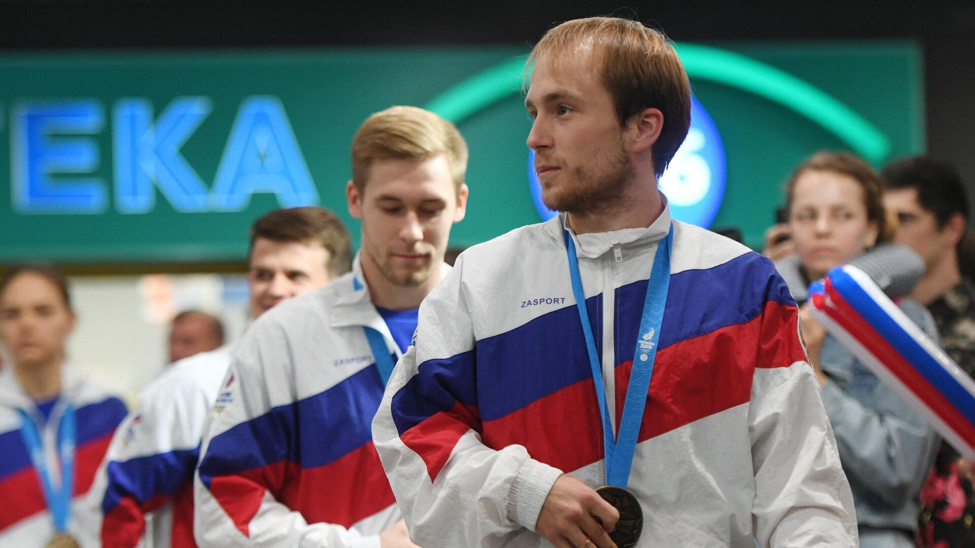 Встреча делегации российских спортсменов-участников II Европейских игр - РИА Новости, 1920, 14.06.2021
